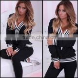 Oem Wholesale Sexy Casual Womens Sports Tops Sweatshirt Long Pants Track Plain Sweat Suits Tracksuit