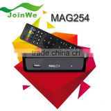 Origianl chip linux system iptv set top box HD 1080p satellite receiver support lan wifi youtube mag250 wifi adapter mag254