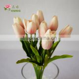 2016 newly coming wholesale Spirited Ivory artificial tulip flower indoor furniture decoration