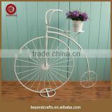 Handmade decorative bicycle wrought iron stand for flowers                                                                         Quality Choice