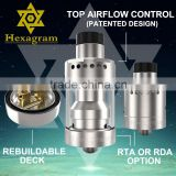 2016 vaporizer most popular vape tanks with 304 stainless steel atomizer RBA atomizer