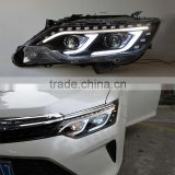 12V Car LED DRL+High Beam Light+Reverse Light Headlights For Toyota Camry 2015 Head Lamp