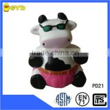PU cow toy animal shape foam stress balls,farmer shape decoration toy for babies