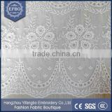 High quality guipure white Cotton lace trim embroidery fabric cotton eyelet lace swiss voile lace in switzerland wholesale