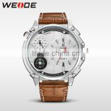 WEIDE Japan Movement Quartz Watch Sr626sw 3ATM Water Resistant Digital Watch Genuine Leather Strap Quartz Watches Men