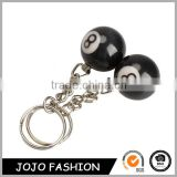 2pcs Billiard Pool Keychain Snooker Table Ball Key Ring Gift Lucky NO.8                                                                         Quality Choice