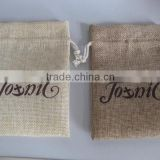 2015 new jute burlap jewelry pouches drawstring bags