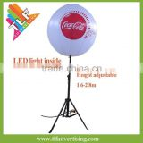 Tripod Standing inflatable RGB LED Balloon,Inflatable custom print Ball with base stand,inflatable balloon display stand