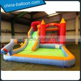 happy inflatable bouncer combo,giant inflatable bouncer slide with pool for kids                                                                                                         Supplier's Choice
