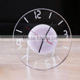 Acryl crystal wall clock
