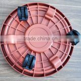 Popular sale home garden used many sizes plastic plant tray with pulley