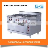 2016 Competitive Prices 6 Burner Electric Cooker Oven Hot Plate Stove Oven