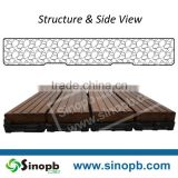 Engineered Grooved Surface Treatment Bamboo Tile Exterior Floor