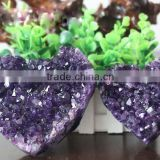 Beautiful high quality heart shape amethyst cluster wedding souvenirs