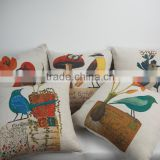 Home decorative throw pillows Custom bird printed square 18*18 pillow covers/case dress