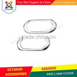 VW AMAROK SIDE LAMP COVER ABS CHROME CAR ACCESSORIES