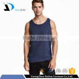 Oem custom low MOQ high quality promotion 100% cotton blank blue men wholesale sleeveless hoodie stringer vest gym