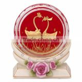 crystal paper weight inside swan design selling in cheap price