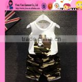 2015 Custom High Quality Cotton Boy Suit Factory Direct Camouflage Color Hot Baby Clothes Wholesale Price