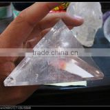 Wholesale natural Clear Quartz Crystal stone Pyramid singing for healing