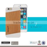 Blank Back Cherry Wood PC Phone Cover Custom Packing for iPhone 6 Phone Cover,Ultra Slim Universal Wooden Phone Covers