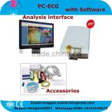 Free PC Software 12 lead Resting PC base ECG System with Diagnostic Cardiology 18 months warranty