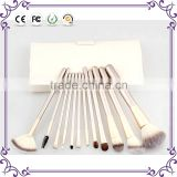 2015 Professional Soft 12 pieces Makeup Brushes Set Cosmetic Real Make Up Tools eyeshadow blush Set with Leather Bag