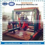 Wood Double Saw Blade electric portable sawmill in china