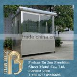 Custom sheet metal security guard booth
