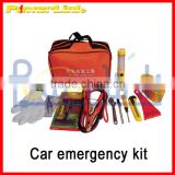H90166 Car emergency tools triangle kit, car first aid kit, tow rope and booster cable V-QZH71