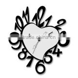 2015 the newest heart shape wall clock digital wall clock home decoration wall clock gift wall clock noverlty clock