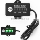 12v rectangular battery indicator meter
