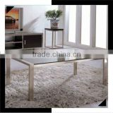 Simple style stainless steel base glass top coffee table C8016