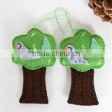2017 Partridge in a Pear Tree Felt Hanging decor made in China