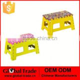 Good Quality Nice Looking Anti-Slip Plastic Folding Step Stool Folding Plastic Stool 450721