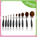 10 PCS Cosmetic Makeup Brushes Set Oval Cream Puff Brushes