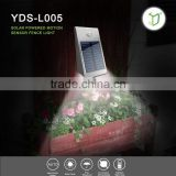 Yardshow Solar Powered LED Motion Sensor Outdoor solar gate post pillar light for Garden Backyard