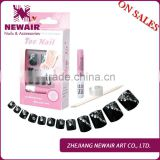 On sale jeweled designed toe nail tips for ladies with ring