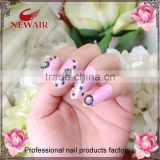 wholesale red diamond gold line series fashion nail tips