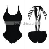 sexy black monokini one pice swimsuit swimwear bathing suit bikini beach wear diving suit wet suit party wear party bikini