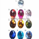D&D 20pcs Mix Crystals Flat Back Rhinestones for Clothes Acrylic Beads Jewelry Decorations Sewing Accessory