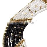 Latest design beads necklace glass seed beads jewelry set