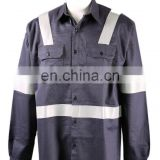 NFPA2112 standard, UL certification flame retardant shirt with reflective tape