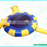 Best price inflatable trampoline on water ,inflatable jumping platform,water park floating