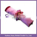 NP011A pink wedding taffeta table napkin