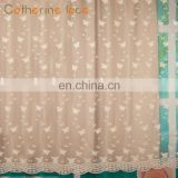 Catherine Wholesale supplier European Embroidered Jacquard Curtain Fabric