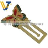 hot sell butterfly shape Photo Etched Promotion Souvenir Metal Bookmark
