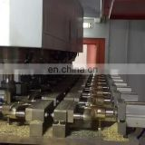 Metal pipe and sanitary fittings processing horizontal multihead CNC engraving milling machine