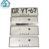520x110x1.0mm single layer number plate for Zambia