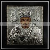 Framed Polished Silver Icon